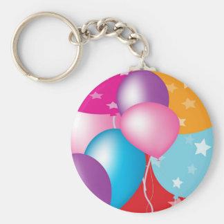 NOVINO Celeberations - Baloons,Stars n Hearts Basic Round Button Key Ring