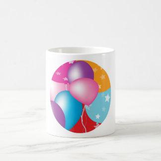 NOVINO Celeberations - Baloons,Stars n Hearts Basic White Mug