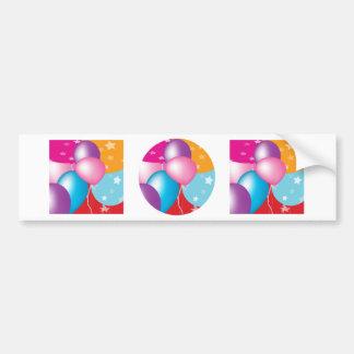 NOVINO Celeberations - Baloons,Stars n Hearts Bumper Sticker