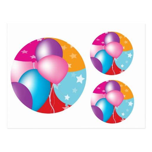 NOVINO Celeberations - Baloons,Stars n Hearts Postcards