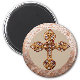 NOVINO Cross with Diamonds Magnet