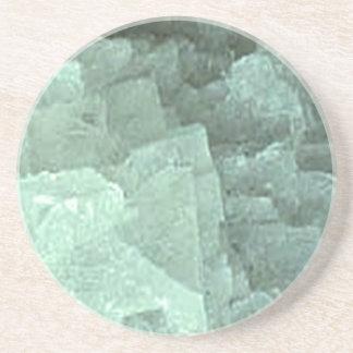 NOVINO Emrald Precious Stones n Fossils Beverage Coaster
