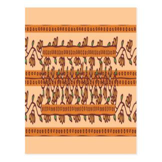 NOVINO Floral Border Pattern Postcard