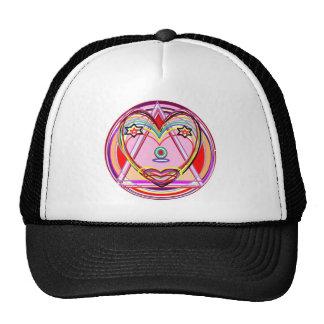 NOVINO Heart Chakra - Artistic Presentation Mesh Hats