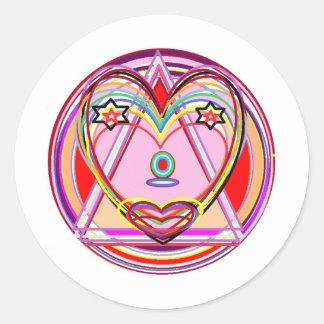 NOVINO Heart Chakra -  Artistic Presentation Round Sticker