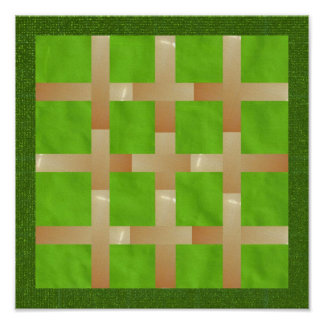 NOVINO Hues of  Green Presentation Poster