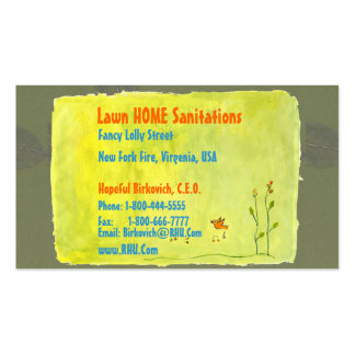 NOVINO : LAWN HOME SANITATION SERVICES BUSINESS CARD TEMPLATE