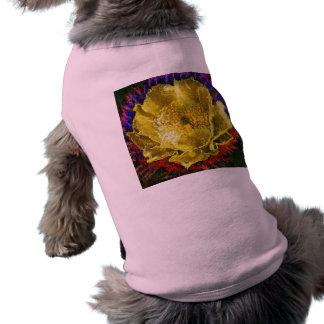 NOVINO -  Obsession Gold Floral Sleeveless Dog Shirt