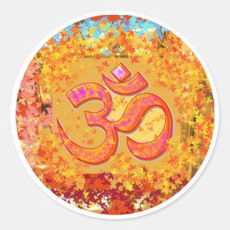 NOVINO Om Mantra - Dedication by Naveen Joshi Round Sticker