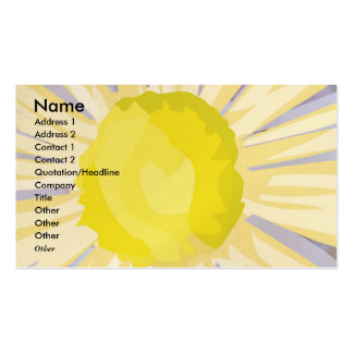 NOVINO - Sunflower Heart Pack Of Standard Business Cards