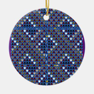 NOVINO Texture Pattern Meet Greet Gifts  doonagiri Christmas Ornament