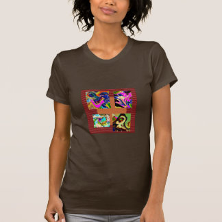 NOVINO Variety Collection Squares Rounds NumberOne Tee Shirt