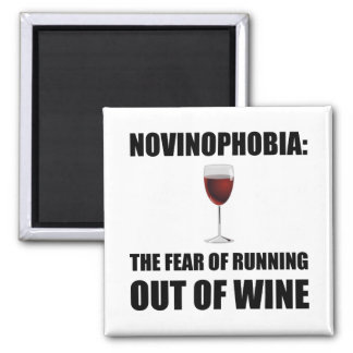 Novinophobia Wine Magnet