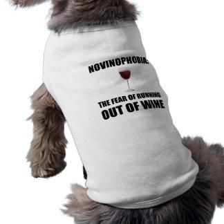 Novinophobia Wine Sleeveless Dog Shirt