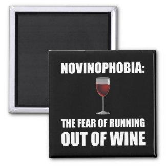 Novinophobia Wine Square Magnet