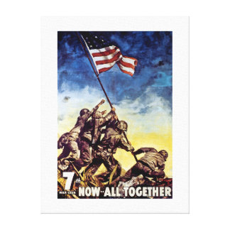 Now All Together ~ Iwo Jima Canvas Print