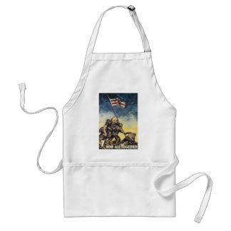 Now All Together World War 2  Adult Apron