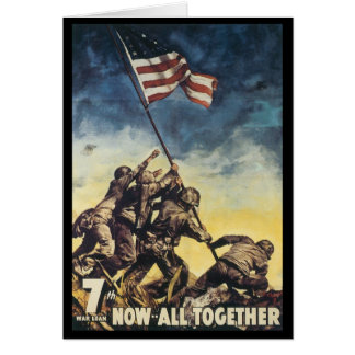 Now All Together World War 2 Greeting Card
