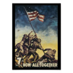 Now All Together World War 2 Poster
