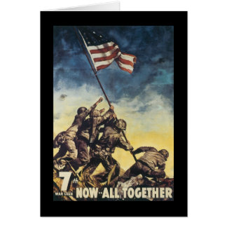Now All Together World War 2 Stationery Note Card