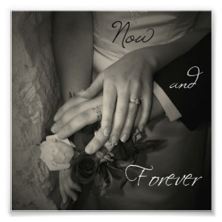 Now and Forever Wedding Hands I Love You Square Photograph