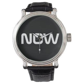 Now Classy Elegant Black Wrist Watches
