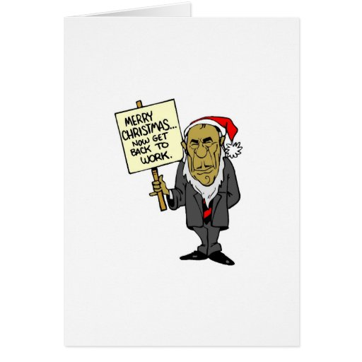 Now Get Back To Work Christmas Boss Greeting Cards