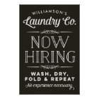 Now Hiring Fun Personalised Laundry Room Print