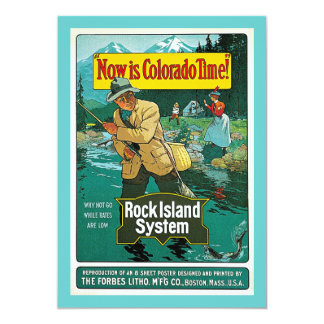 Now is Colorado Time! Vintage Travel Advertisement Custom Announcements