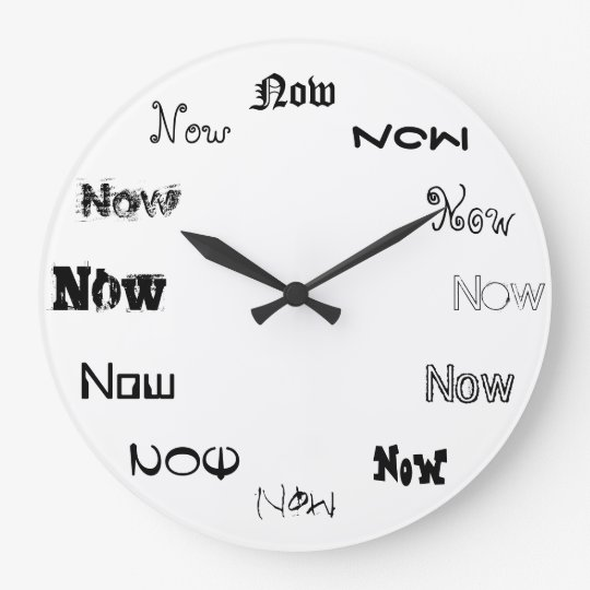 Now is The Time Large Clock