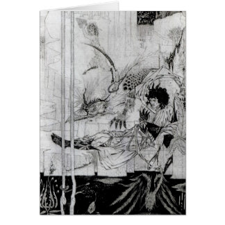 Now King Arthur saw the Questing Beast Greeting Card