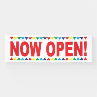 Now Open Business Banner