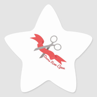 Now Open Star Sticker
