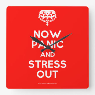 Now Panic and Stress Out Clock