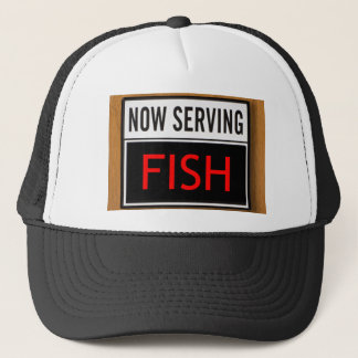 Now Serving Fish Trucker Hat