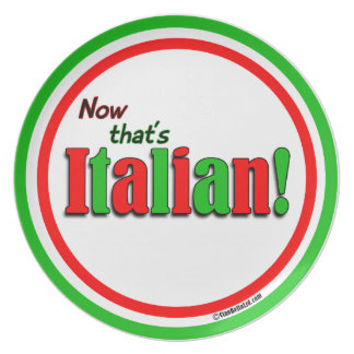 Now That's Italian! Plate
