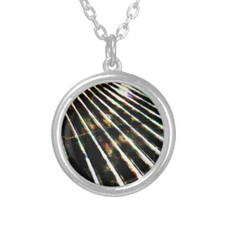 Now that's metal... round pendant necklace