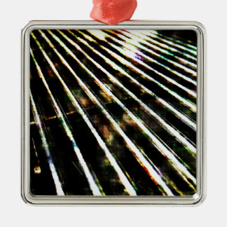 Now that's metal... Silver-Colored square decoration