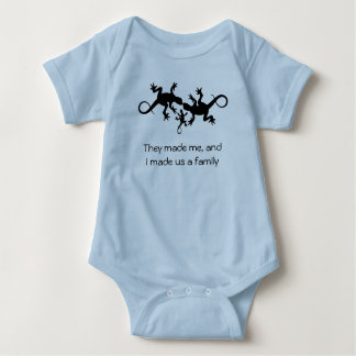 Now We're a Family Baby Bodysuit