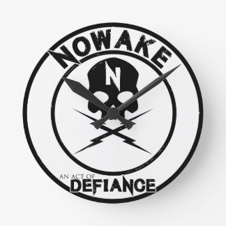 NOWAKE An Act of Defiance Wall Clock