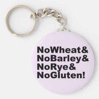 NoWheat&NoBarley&NoRye&NoGluten! (blk) Key Ring