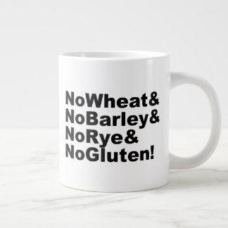 NoWheat&NoBarley&NoRye&NoGluten! (blk) Large Coffee Mug