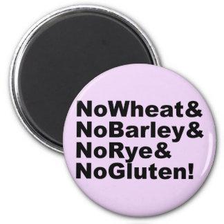 NoWheat&NoBarley&NoRye&NoGluten! (blk) Magnet