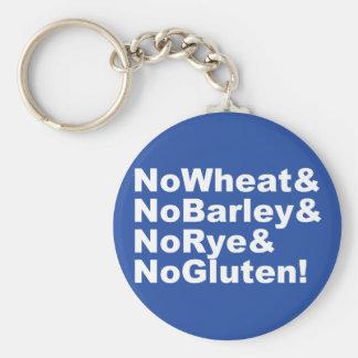 NoWheat&NoBarley&NoRye&NoGluten! (wht) Key Ring