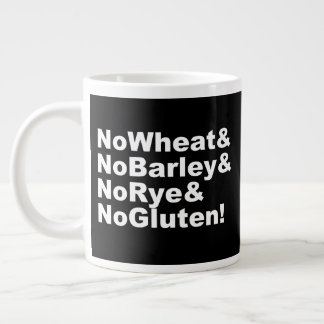 NoWheat&NoBarley&NoRye&NoGluten! (wht) Large Coffee Mug
