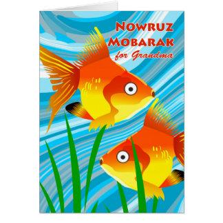 Nowruz Mobarak, Persian New Year for Grandma, Fish Card