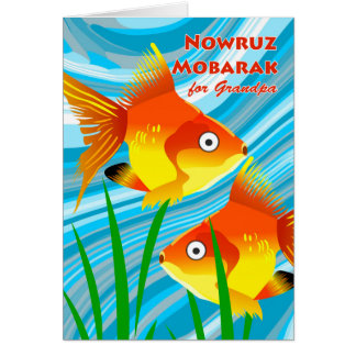 Nowruz Mobarak, Persian New Year for Grandpa, Fish Card