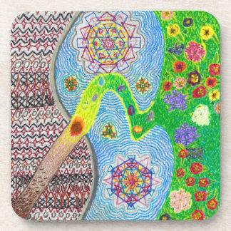 Nowruz Spring and Life Renewal Plastic Coaster Set