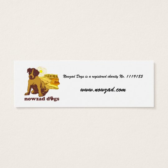 Nowzad Rescue Dogs Bookmark Mini Business Card