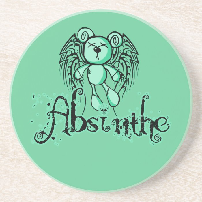 NOXIOUS TEDDY - Absinthe The Green Fairy Drink Coasters